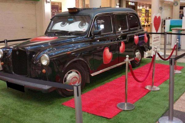 London Austin Taxi Full Black Heart  Branding