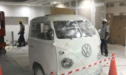 Volkwagen bus Truckhead for new NLB vivocity library singapore