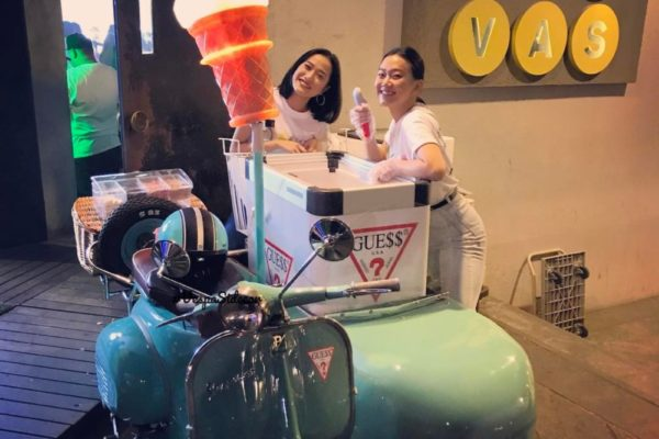 Ice Cream Vespa for GUESS product launch @ Canvas Club