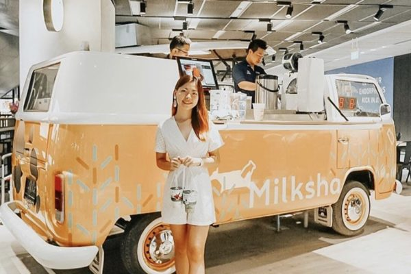 Kombi Drinks Truck Permanent Stall for Funan Centre