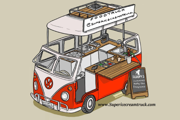 Kombi Foodtruck Concept Drawing for Funan Centre